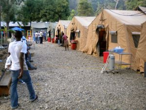 Ground view of the field hospital.